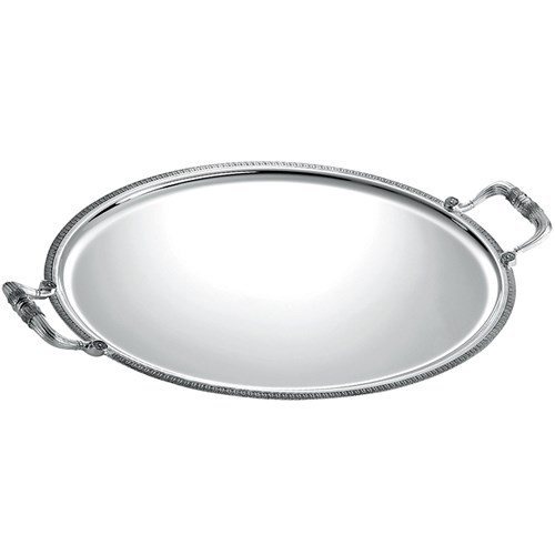 Christofle Malmaison Silverplated Oval Tray with Handles