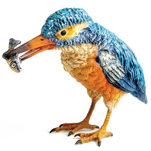 Austrian Bronze Kingfisher with Fish Figurine