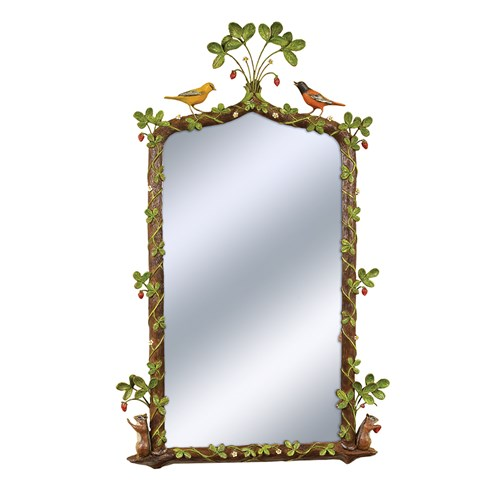 Strawberry Thief Mirror, Natural