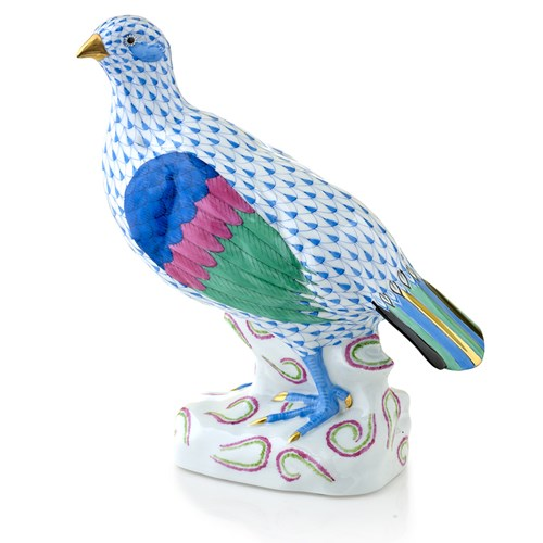 Herend Partridge, Blue