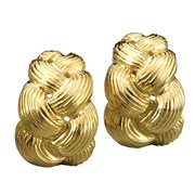 Braided 18k Yellow Gold Earrings