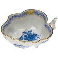 Herend Chinese Bouquet Blue Deep Leaf Dish