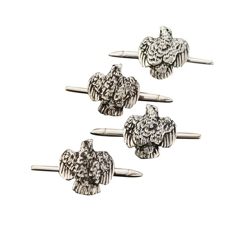 Quail Studs Sterling Silver Set/4