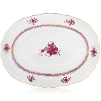 Herend Chinese Bouquet Raspberry Oval Platter, Large