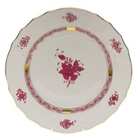 Herend Chinese Bouquet Raspberry Chop Plate with Handles