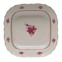 Herend Chinese Bouquet Raspberry Square Fruit Dish