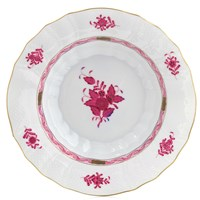 Herend Chinese Bouquet Raspberry Rim Soup Bowl, Large