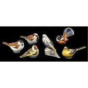 Royal Crown Derby Yellow Wagtail Paperweight