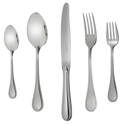 Christofle Perles Stainless Steel 5 Piece Place Setting