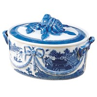 Mottahedeh Blue Canton Covered Casserole Dish