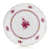 Herend Chinese Bouquet Raspberry Large Dinner Plate