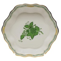 Herend Chinese Bouquet Green Fruit Bowl, Large