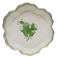 Herend Chinese Bouquet Green Fruit Bowl, Medium
