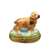 Brown Cocker Spaniel Limoges Box, Limited Edition