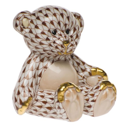 Herend Small Teddy Bear, Chocolate
