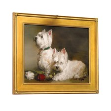 Westies and Roses Giclee
