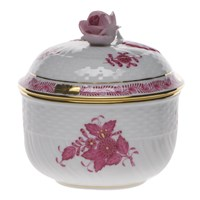 Herend Chinese Bouquet Raspberry Covered Sugar Bowl, Medium