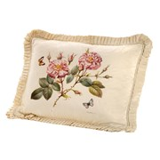 Handpainted Roses on Cream Silk Pillows