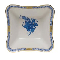 Herend Chinese Bouquet Blue Square Dish