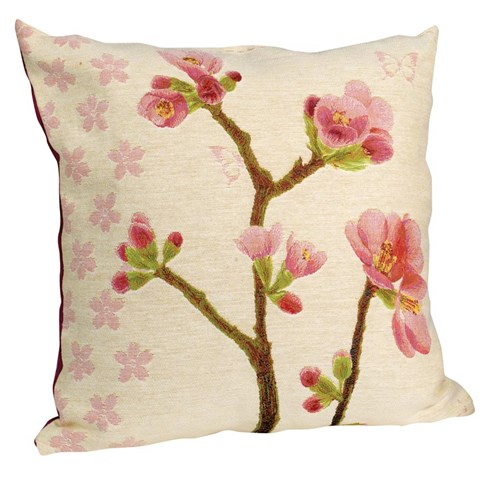 Apple Blossom Tapestry Pillow, Small Flowers