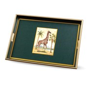 African Animals Giraffe Glass Tray
