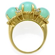 18k Yellow Gold Chalcedony & Diamond Ring