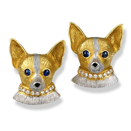 Chihuahua with Diamond Collar Posts