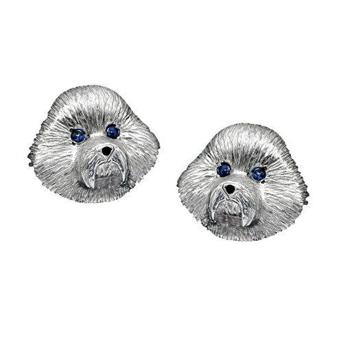 Bichon Frise Earrings with Posts
