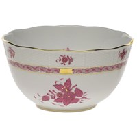 Herend Chinese Bouquet Raspberry Round Bowl