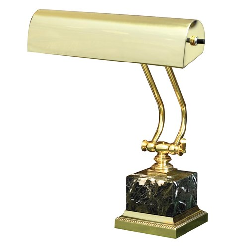 Brass & Black Marble Desk Lamp