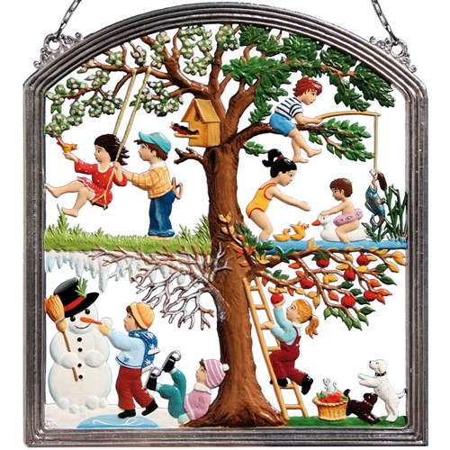 Pewter Children's Four Seasons Wall Hanging