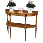 D-Shaped Satinwood Console