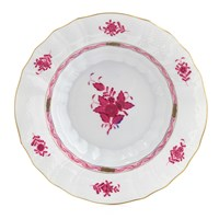 Herend Chinese Bouquet Raspberry Rim Soup Bowl, Medium