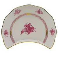 Herend Chinese Bouquet Raspberry Crescent Salad Plate