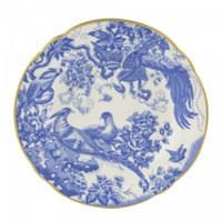 Royal Crown Derby Blue Aves Tea Saucer