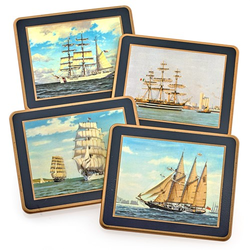 Tall Ships Coasters, Set of 4