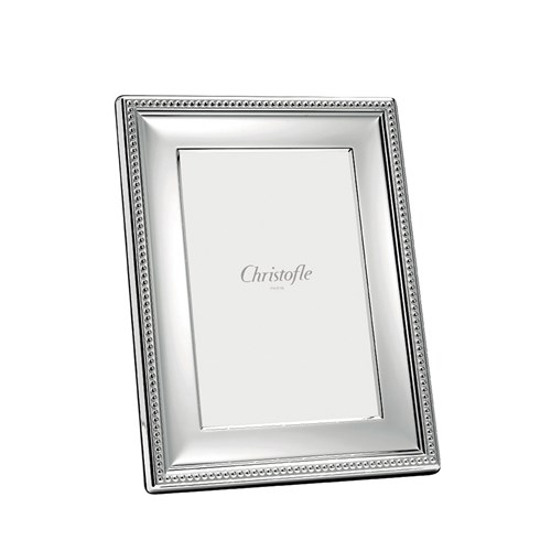 "Christofle Perles Silverplated Frame, 8"" x 10"""