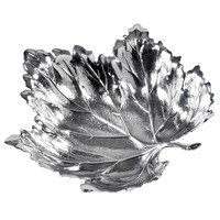 Buccellati Vine Sterling Silver Leaf Dish, Medium