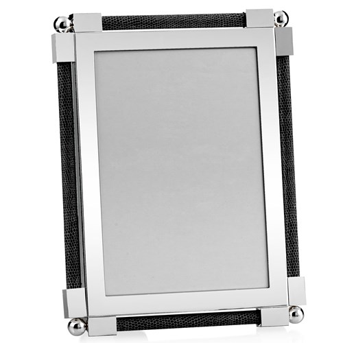 "William Yeoward Classic Shagreen 5"" x 7"" Picture Frame, Black"