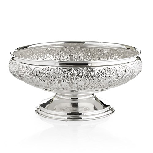 Silverplated Floral Centerpiece Bowl