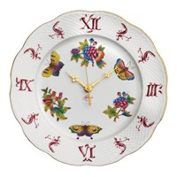 Herend Queen Victoria Pink Border Wall Clock