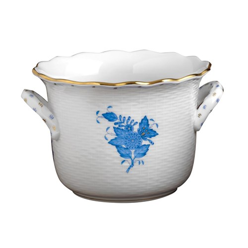 Herend Chinese Bouquet Blue Cachepot, Small