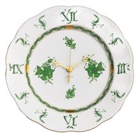 Herend Chinese Bouquet Green Wall Clock