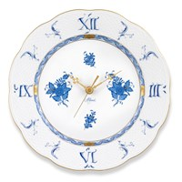 Herend Chinese Bouquet Blue Wall Clock
