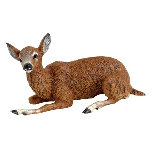 Austrian Bronze Lying Deer Figurine