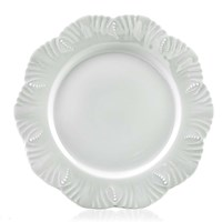 Royal Limoges Nymphea Ocean White Dinner Plate