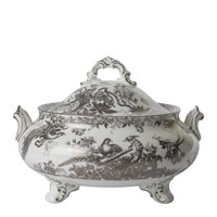 Royal Crown Derby Aves Platinum Covered Vegetable Dish