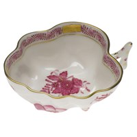 Herend Chinese Bouquet Raspberry Deep Leaf Dish Small