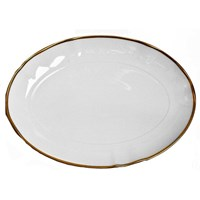 Anna Weatherley Simply Elegant Gold Oval Platter
