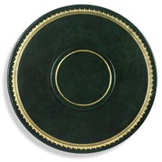 "9"" Round Leather Table Seating Arrangers"